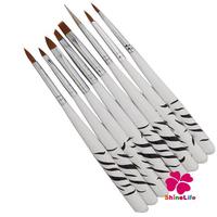 High Quality 8Pcs/set 8 Design UV Gel Nail Art Brush Design Set Dotting Painting Drawing Polish Brush Pen Tools  Set