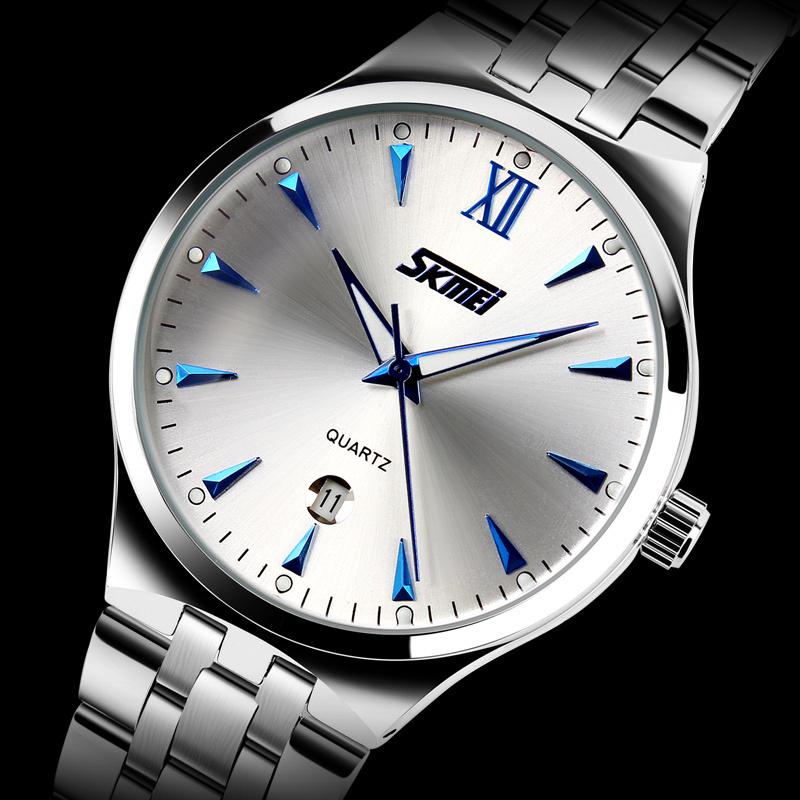 2015 New SKMEI 9071 Watches Men Luxury Brand Design Military Sports Wristwatches Men Digital Quartz Men Full Steel Watch Relogio(China (Mainland))