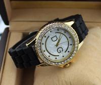 Fashion Women Rhinestone Watches men luxury watch brand clock women dress silicone strap watches relogio wristwatch