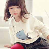 Boys And Girls Sweater Shirts 2015 New Fashion Spring Long Sleeve T shirt /T-shirts Kids Girls Pullovers And Tees