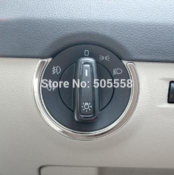 Для VW SKODA OCTAVIA A7 фар переключатель отделка стикер из нержавеющей стали авто ...