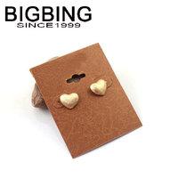 BigBing  jewelry fashion Golden heart  stud earring high quality  nickel free JA042