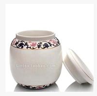 classical 100g tea cans blue and white porcelain tea pot sealed kettle ceramic jar Kung Fu tea sealing can tea storage tool