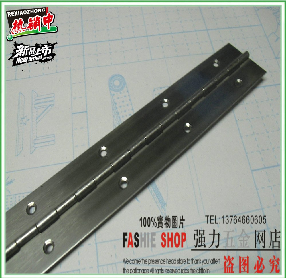 Strong long piano hinge long row hinges hinge stainless steel piano hinge door hinge 1.8 m 1.5 2.5 inch thick(China (Mainland))