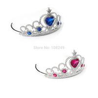 3pcs/lot Frozen Princess Elsa Anna Crown Birthday Party Rhinestone Crown Elsa Costume Headband Hair Accessories Girls Dress UP