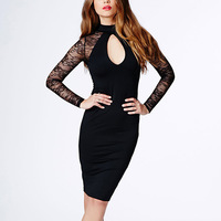 Free Shipping Women's Lace Backless Sexy Club Dress