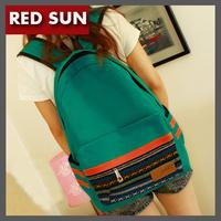 2014 Hot Sale!Fashion canvas women shoulder bags Vintage national student bag Casual women backpack New women school bag  NB1712