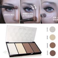 New Professional 4 Colors Concealer bronze Camouflage Makeup Neutral Palette Primer Contour Facial Shadow Highlighter V Face