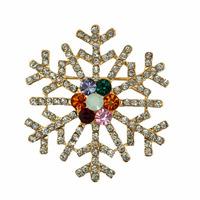 Latest Fashion Winter Crystal Rhinestone Snowflake Brooch