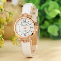 9 Colors New Fashion Women Wristwatches Rhinestone Watch Women Dress Watches PU Leather Strap Watches AW-SB-1272