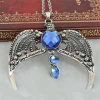 No min order.Harry Potter Vintage Silver Alloy Crystal Eagle Necklace Fashion Statement Necklaces & pendants for Women