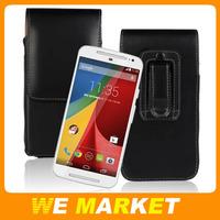 2014 Vertical Belt Clip Case For Motorola MOTO G2 G+1 Pouch Packet Case Cover For MOTO G 2nd XT1069 XT1068