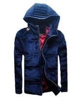 2014 men's DSQ brand winter coat Slim tide male thick warm D2 padded jacket Hoodies outerwear