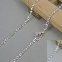 No min order.925 Sterling Silver plated Chain Necklace 20""