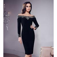 2014 New Coming Ladies HL Bandage Dress Long Sleeve Slash Neck Sexy Lace Mini Dress Evening Party Dress Wholesale