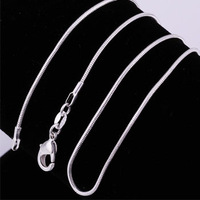 No min order.Copper alloy chain 925 Sterling Silver plated Necklace for men & women