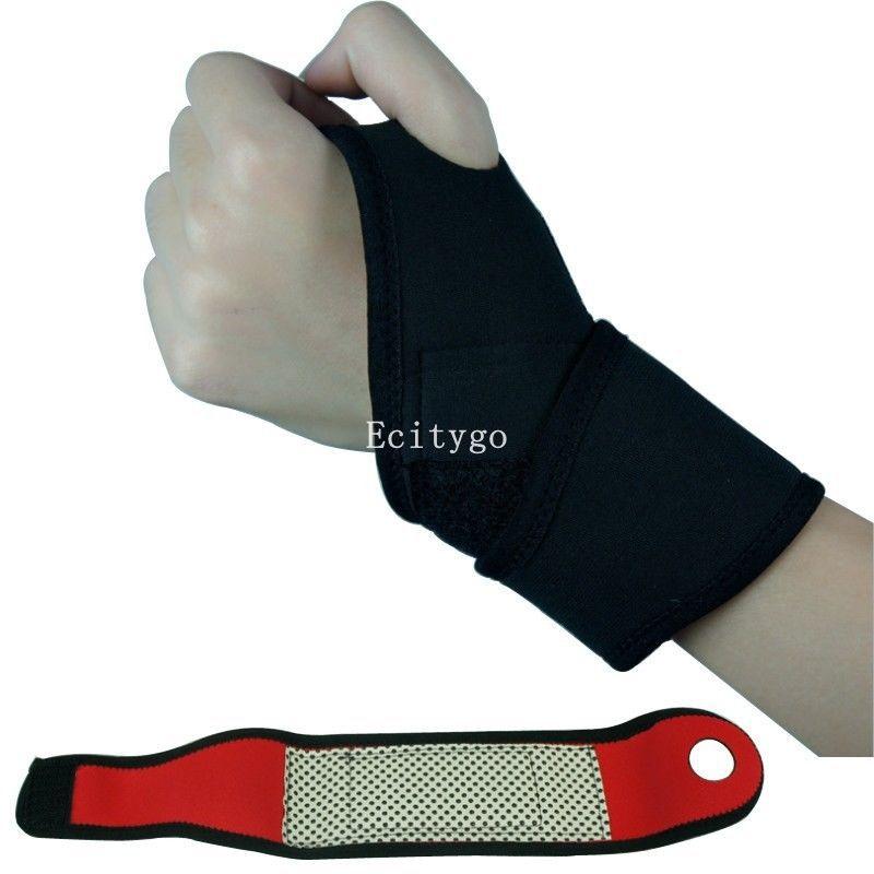 2015 Weight Lifting Wrist Wraps Bandage Support Straps Gloves Gym FitnessTraining Wristband Free Shipping adjust badminton wrist(China (Mainland))