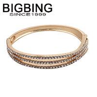 BigBing jewelry Fashion Golden Silver crystal bangle  fashion jewelry  good quality nickel free Free shipping! Q671