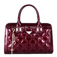 NEW arrived!! 2015 women messenger bag Genuine patent leather handbag Brand crossbody Bag Luxury Tote women travel bags