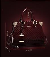 Jaron Group New 2015 Women Handbags Genuine Patent Leather Handbag Fashion Women Messenger Bags Brand Tote Designs Shoulder Bag