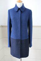 Marcs classic color block decoration overcoat outerwear elegant