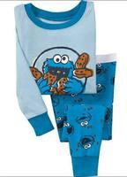Retail 1set kids Pajamas Kids cotton pyjama cartoon home clothing sets kids sleepwears boys underwear 2T-7T
