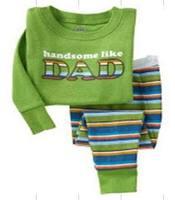 Children Pajama 1 Set Cotton Pajamas for Kids Girls Boys Long Sleeves Kids Sleepwear boy's pyjamas