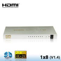 Audio & Video HDMI Splitter 1x8 for 3D TV