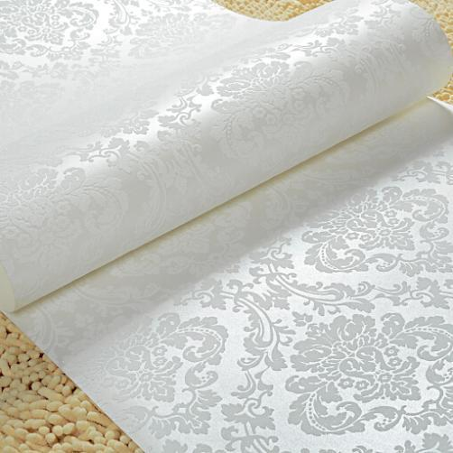 gold beige white glitter damask metallic wallpaper