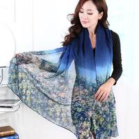 2014 scarf thin cotton silk scarf spring and autumn desigual scarf women's summer emulation silk patterns sunscreen cape shawl
