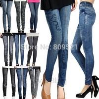 2014 new women thin Ladies wild snow Denim jeans Leggings pencil pants nine Leggings autumn warm trouser free shipping
