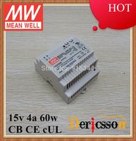 mean well original DR-60-15 15V 60W din rail Power Supply UL/cUL