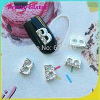 100pcs of Letter B 3D Nail Art Decorations DIY Materials for Nail wholesale professional nail art supplier