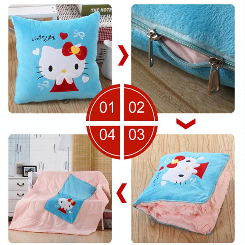 Sgipping livre 50 x 50 cm multifuncional duplo zíper travesseiro almofada Cartoon Cute150x195cm cobertores Quilt carro de presente cadeira sofá cama(China (Mainland))
