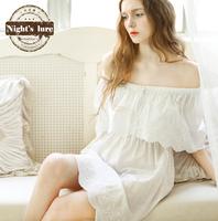 Wire summer new arrival 100% cotton princess vintage sweet short skirt sleepwear lounge
