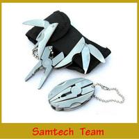 Mini Pocket Hand Knife Multi Function Tools Set Keychain Foldaway Pliers Knife Screwdriver 5Pcs With Black Bag