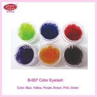 Hot Sale Colorful Soft False Silk Eyelashes For Girls 6 Color B-007 Free Shipping
