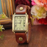 8 Colors New Arrival Vintage Cow Leather Bracelet Watches Men or Women Dress Watches quartz watches AW-SB-1276