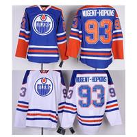 Edmonton hockey jersey # 93 Ryan Nugent-Hopkins jersey, 93 Nugent-Hopkins jerseys, size M-XXXL mixed order free shipping