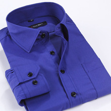 2015 Spring and Autumn Men Casual Shirt,Classics Solid slim Fit Long Sleeve Shirts for Men Plus Size M~XXXXXL(China (Mainland))