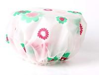Flower printing EVA waterproof shower caps bath cap present &Not a one-off 10pcs/lot travel accessory