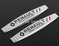 1 PCS Renault Luxury Car  3D Badge Emblem Sticker  Hood Grille Bumper Trail Boot Trunk Chrome