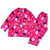 wholesale winter flannel girls sleepwear brand kids pajamas sets peppe pig girls pajamas sets girls pajamas peppa pig pajamas