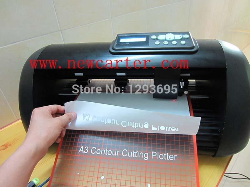 Desktop A3 Vinyl Cutter With Contour Cutting 330 Cutting Plotter Adhesive Sticker Cutter Printed Label Cutter Flexi(China (Mainland))