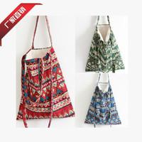 Women Male bags new 2015 fashion Canvas National printing women handbag Portable bags bolsas femininas mochilas Shoulder bag
