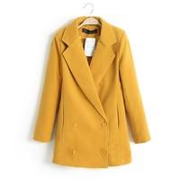 Hot Sale European Brief All Match Women Woolen Coats 5 Colors Long Sleeve Turn Down Collar Lady Boutique Coats NAS8577