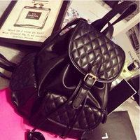 2015 New fashion High quality soft Pu leather women bag women backpack Classic plaid school backpacks travel bag Free shipping