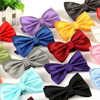10pcs/lot Men's Polyester Plaid Thin Striped Tuxedo Bowtie Suits Business Wedding Party Bow Ties