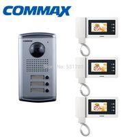Commax DRC-3AC Doorphone Outdoor Camera Panel for Apartment+ CDV-43N 4.3 inch Color Video Doorphone Monitor