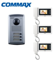 Commax DRC-3AC Doorphone Outdoor Camera Panel for Apartment+ CDV-43N 4.3 inch Color Video Doorphone Monitor
